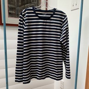 Lands' End Relaxed Fit Crewneck Long Sleeve Top XL